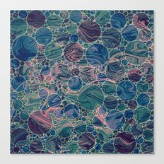 Marble Effect Dots 4 Canvas Print