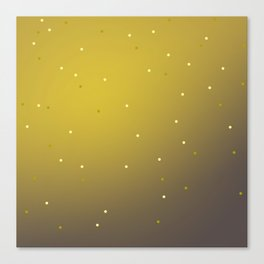 mustard speckles ombre Canvas Print