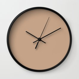 Beige Burlap Solid Summer Party Color Wall Clock