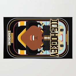 Ice Hockey Black and Yellow - Boardie Zamboni - Aretha version Rug