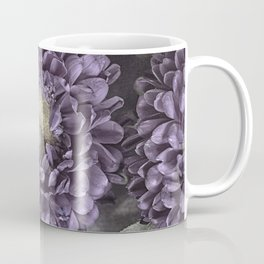 Metallic Purple Mums on a Metal Background Coffee Mug