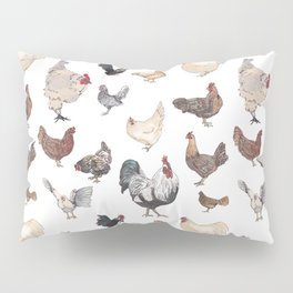 Chicken Happy (white) Pillow Sham