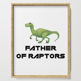 Father of Raptors Dinosaur Serving Tray