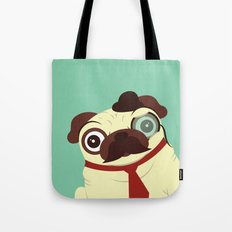 Pug in a Hat Tote Bag