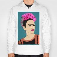 frida kahlo Hoodies featuring Frida Kahlo by Stephanie Jett