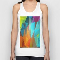 stained glass Tank Tops featuring Stained Glass  by Latidra Washington