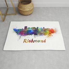 Richmond skyline in watercolor Rug