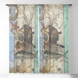 Nautical Steampunk Sheer Curtain