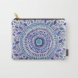 Indigo Flowered Mandala Carry-All Pouch
