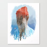 steve zissou Canvas Prints featuring Steve Zissou by Swancowski