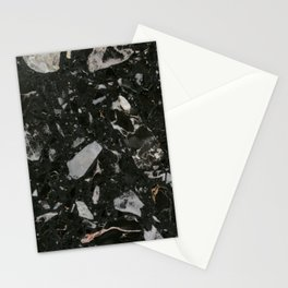 Stone Black Marble Stationery Cards