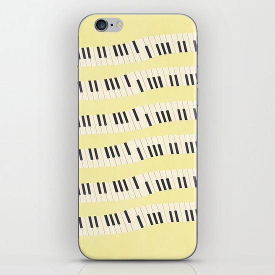 Piano wave iPhone Skin