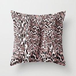 Luxury leopard Print Throw Pillow