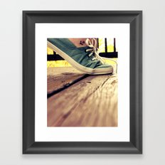 tip toes Framed Art Print