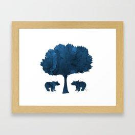 Bear Cubs Framed Art Print