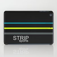 sports iPad Cases featuring STRIP sports by Robert Morris