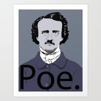 poe Art Prints featuring Poe. by Tara Durrant Designs
