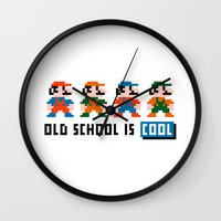 mario Wall Clocks featuring Mario by PixelPower