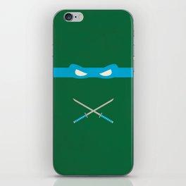Blue Ninja Turtles Leonardo iPhone Skin