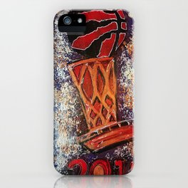 raptors 3,champion,basketball,gold,poster,wall art,2019,winners,NBA,finals,toronto,canada,painting iPhone Case