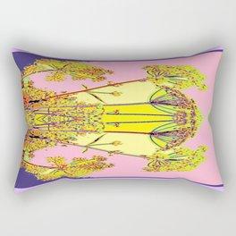 Queen Ann's Lace Floral Design Rectangular Pillow