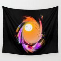 sunrise Wall Tapestries featuring Sunrise by Walter Zettl