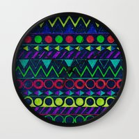 butcher billy Wall Clocks featuring Billy Aztec by Fimbis