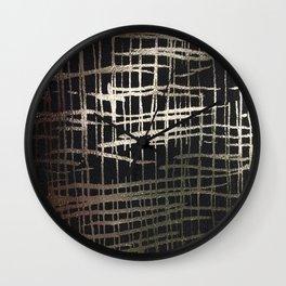 metallic grid Wall Clock