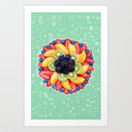 Fruit cake Art Print