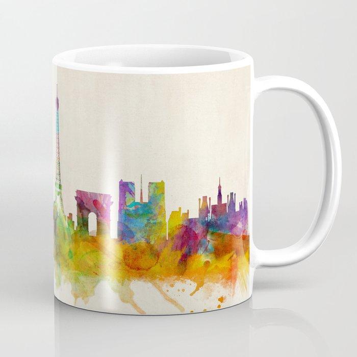 Paris Skyline Watercolor Coffee Mug