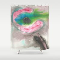 guitar Shower Curtains featuring guitar by Ale Pinto Soffia