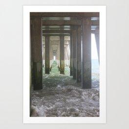 High Tide Pier [2] Art Print
