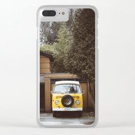Yellow Van Ready For Road Clear iPhone Case