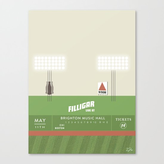 Filligar  with DOM - Brighton Music Hall - Fenway Poter Canvas Print
