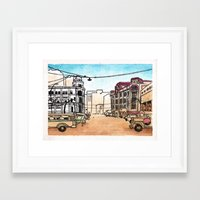 philippines Framed Art Prints featuring Philippines : Escolta by Ryan Sumo