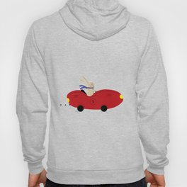 Rabbit and his car Hoody