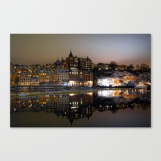 Stockholm by night Canvas Print