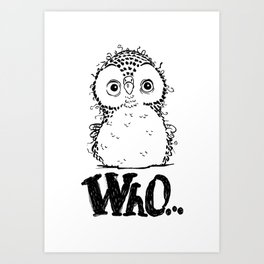 Who-Owl Art Print