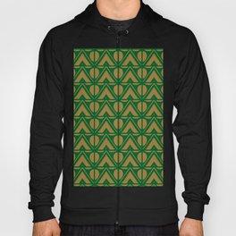 Green Sun & Mountains Abstract Retro Hoody