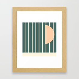 Moon between bars Framed Art Print