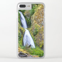 Wahkeena Falls in the Columbia River Gorge Clear iPhone Case