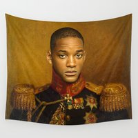 melissa smith Wall Tapestries featuring Will Smith - replaceface by replaceface