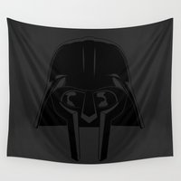 doom Wall Tapestries featuring Doom Vader / Darth Doom by Eyes Wide Awake