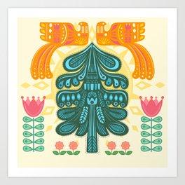 Scandinavian Summer Sunrise Art Print