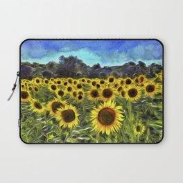 Sunflower Fields Of Summer  Van Goth Laptop Sleeve