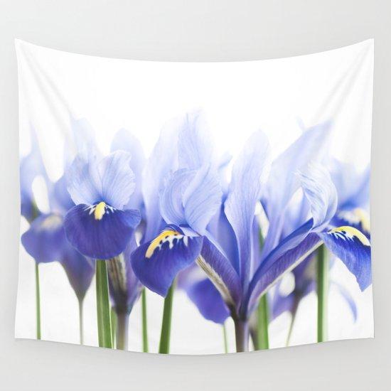 Bue Iris 2 Wall Tapestry