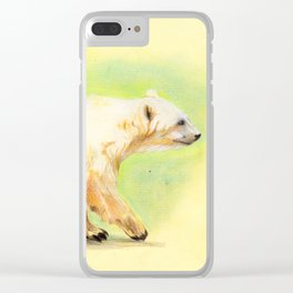 Polar Grizzly bear Clear iPhone Case