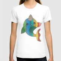 narwhal T-shirts featuring narwhal! by wickedhart
