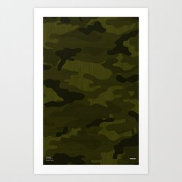 Modern Woodgrain Camouflage / Greenwoods DPM Art Print