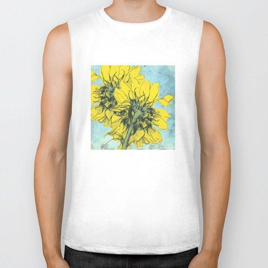The sunflowers moment Biker Tank